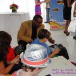 LeVar Burton at Reading Rainbow Relaunch party with kids
